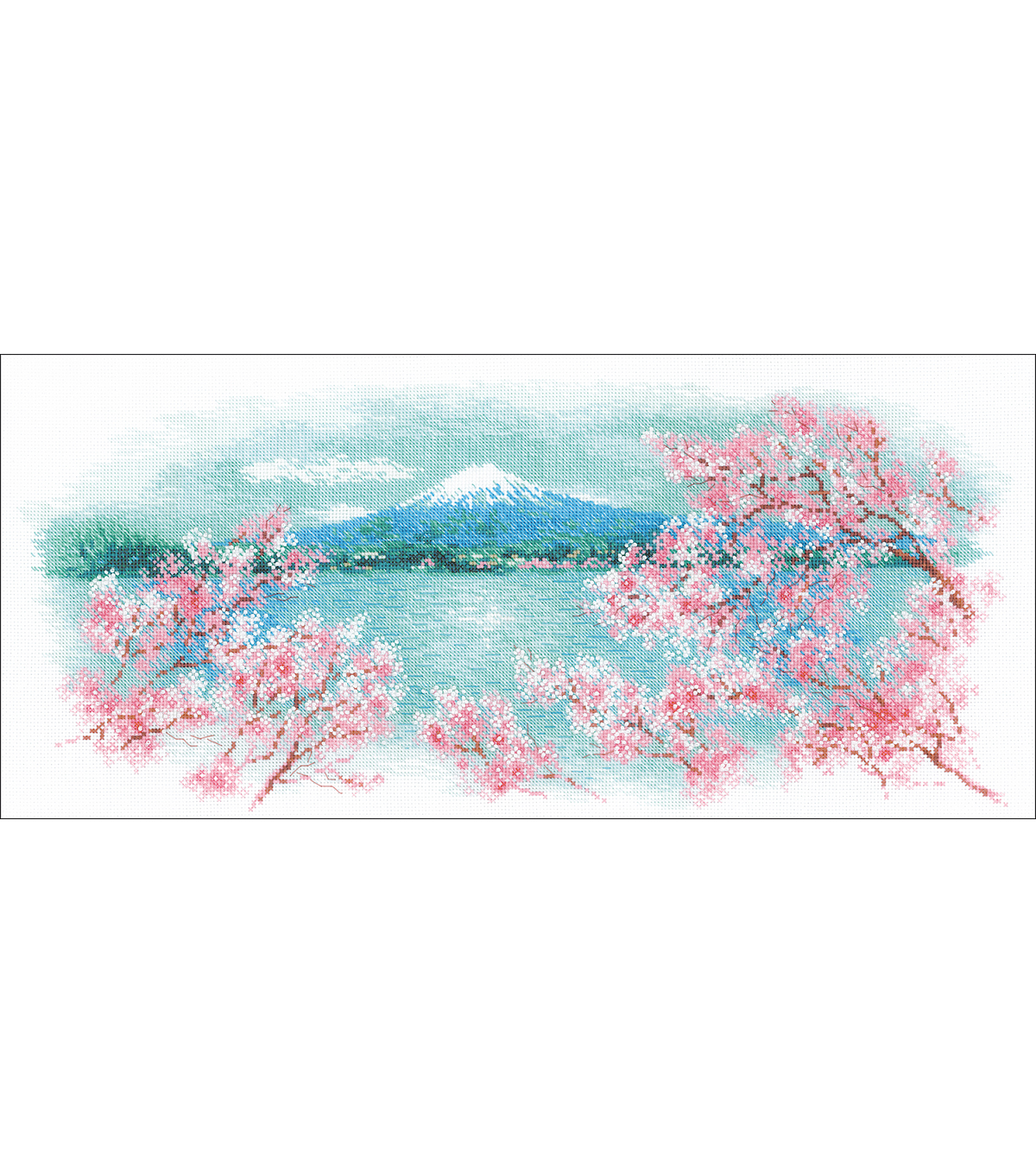 RIOLIS 21.75\u0027\u0027x9.75\u0027\u0027 14-count Counted Cross Stitch Kit-Sakura Fuji