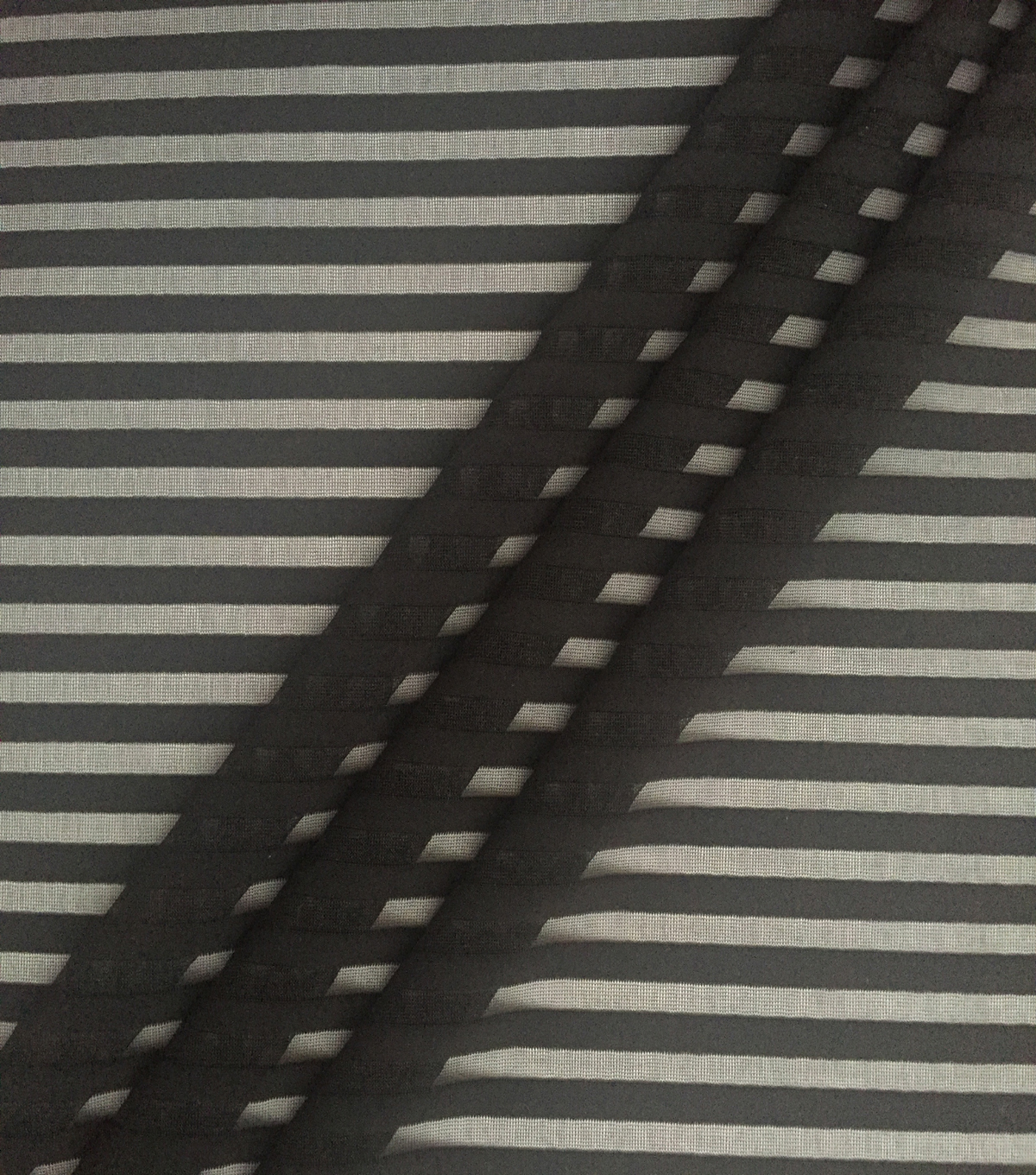 Performance Apparel Fabric-Black Shadow Stripe