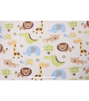 Blizzard Fleece Fabric -Young Safari Animals