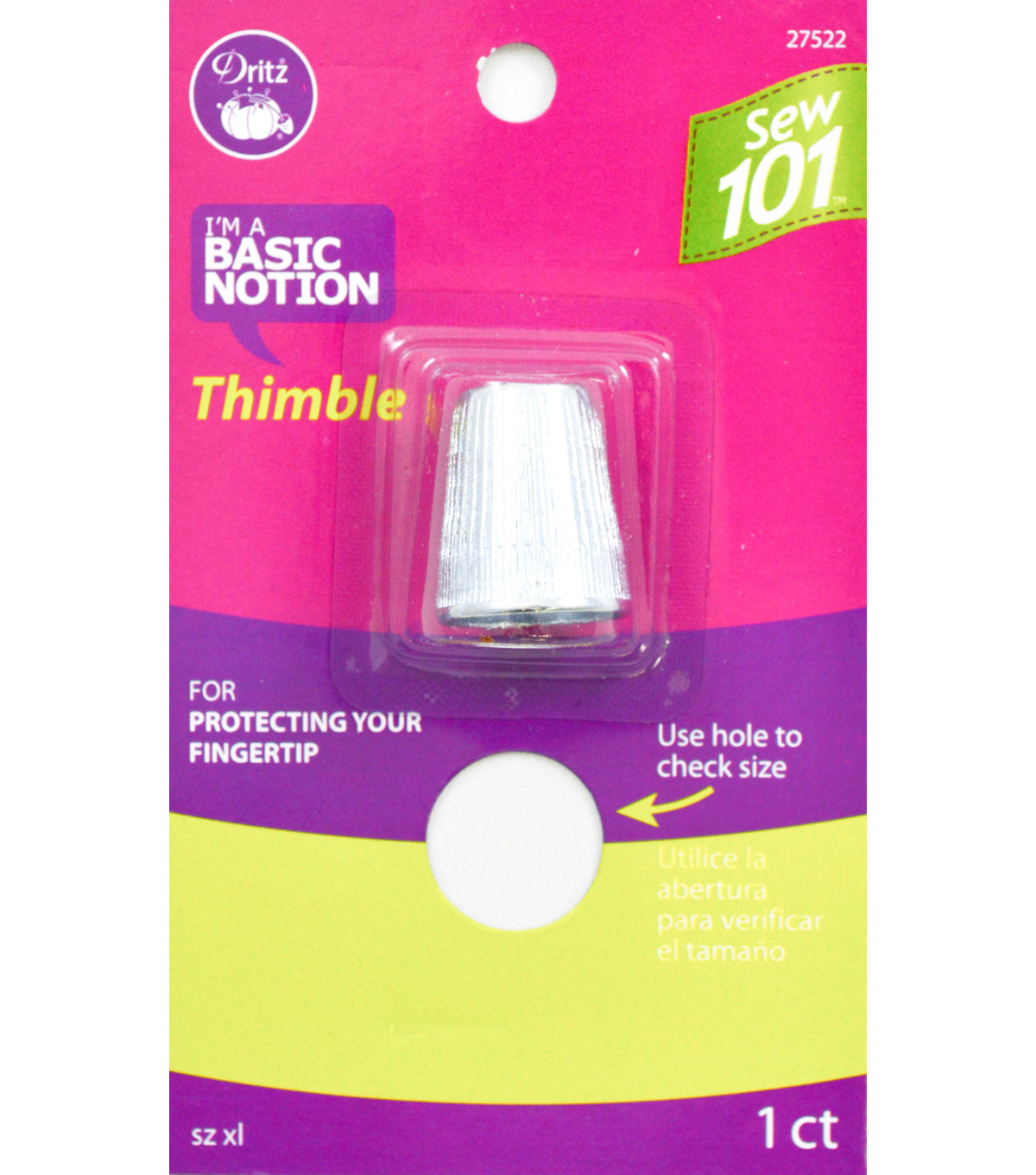 Dritz Sewing 101 Thimble Size XL