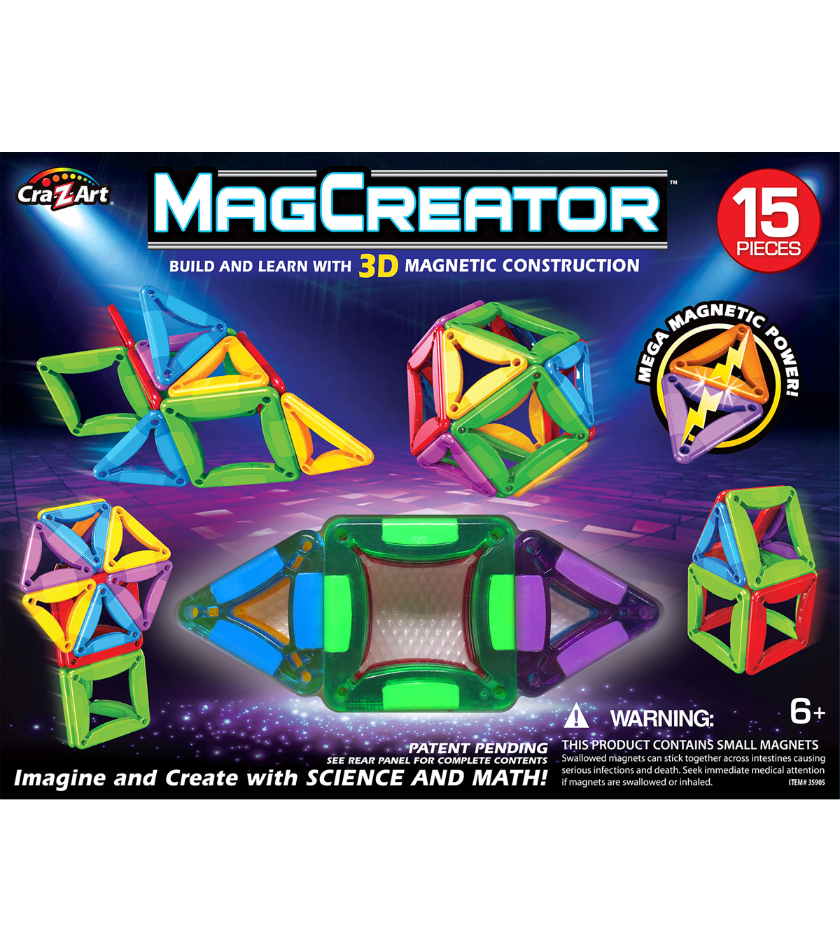 CraZart 15pc MagCreator Set