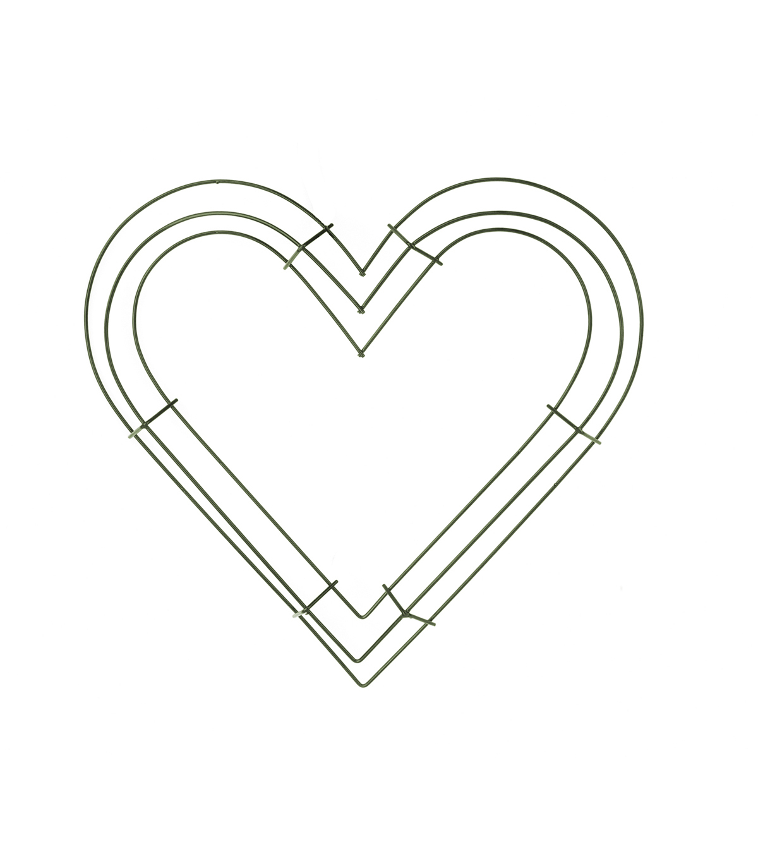 "Spring or Garden Heart-Shaped Metal Wreath Frames 4-12/"" Wedding"