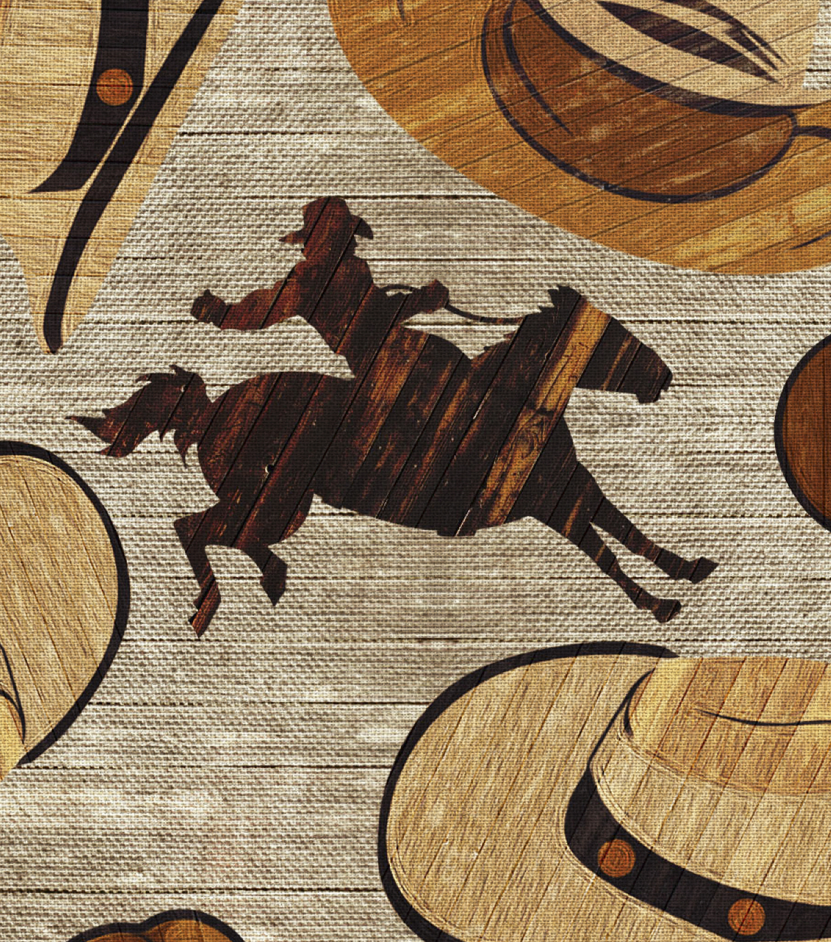Novelty Cotton Fabric -Cowboy Hats