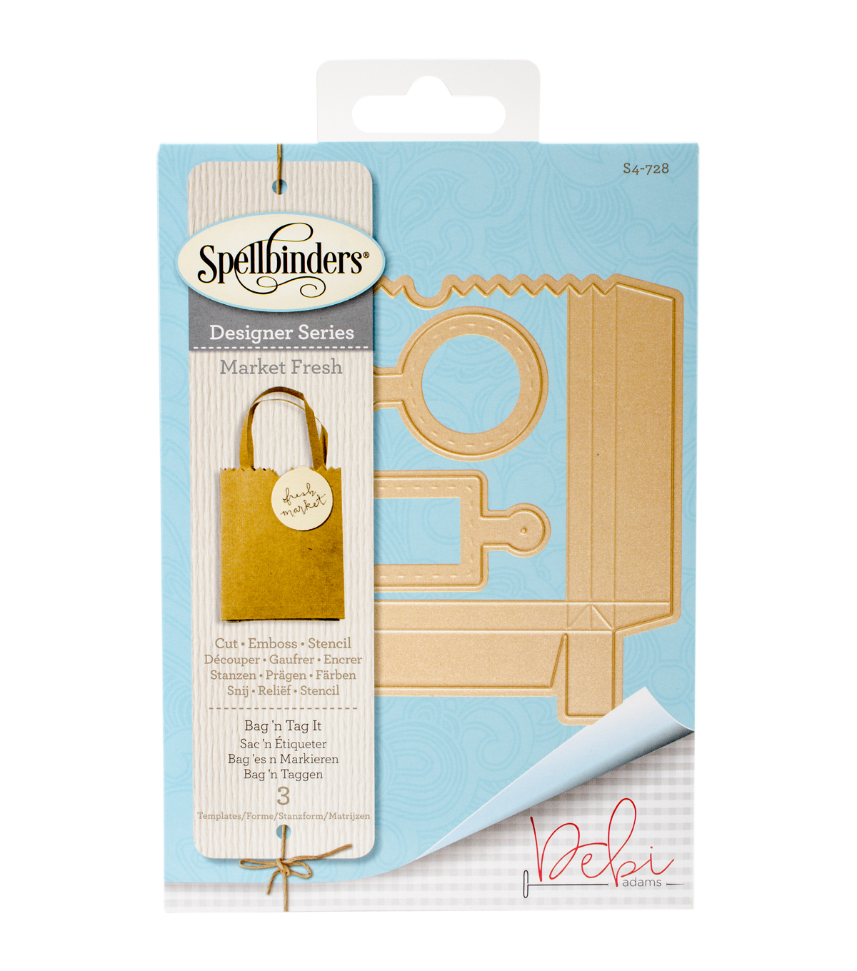 Spellbinders Market Fresh Shapeabilities Die-Bag \u0027n Tag It