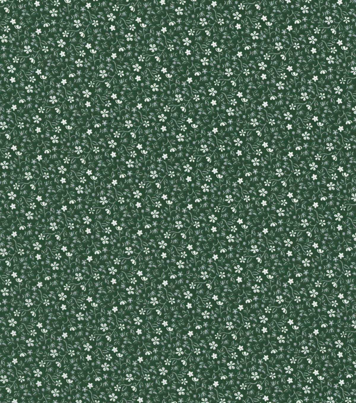 Quilter\u0027s Showcase Cotton Fabric 44\u0022-Green Ditsy Floral