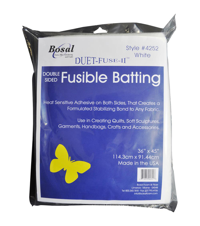 Bosal Duet-Fuse-II Double-Sided Fusible Batting-36''X45''