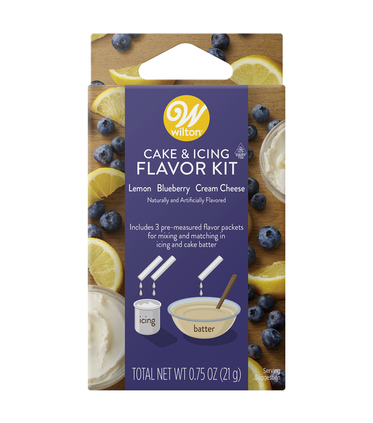 Wilton Cake and Icing Flavor Kit-Lemon Blueberry Cream Cheese