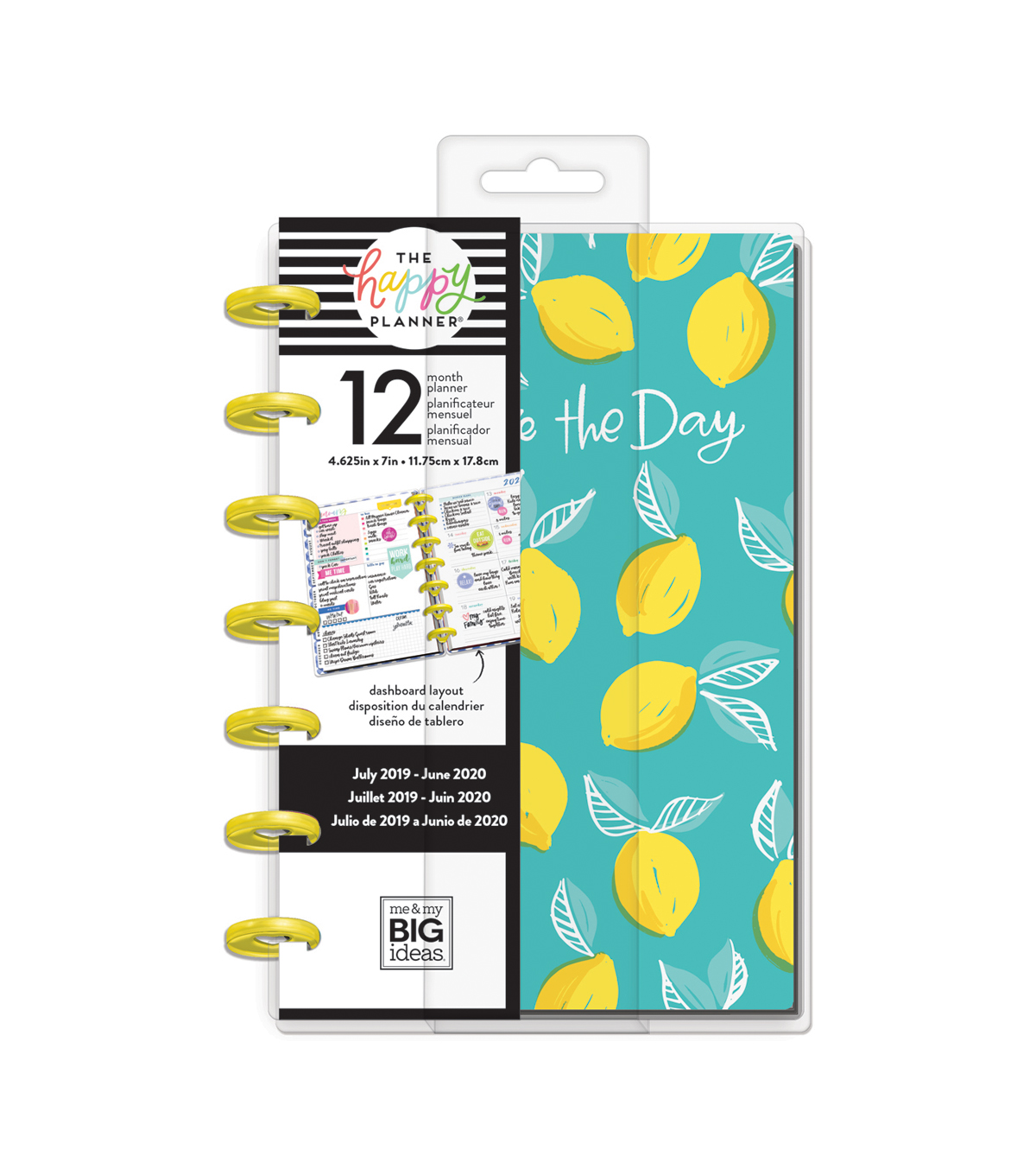 Calendrier Nfl 2020 2019.Me My Big Ideas The Happy Planner 12 Month Mini Planner Lemons