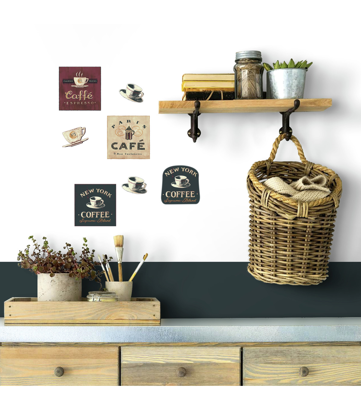 York Wallcoverings Wall Decals-Coffe House