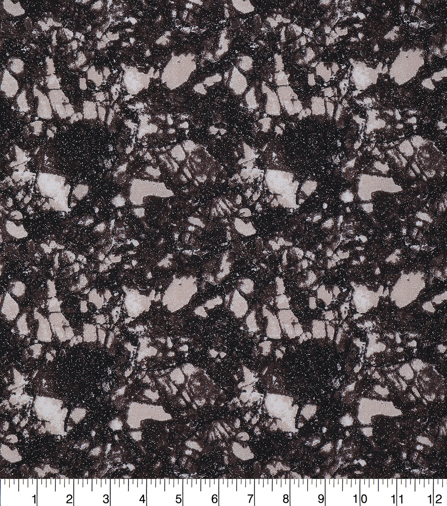 Keepsake Calico Glitter Cotton Fabric 43\u0027\u0027-Brown Snake Skin Crackle