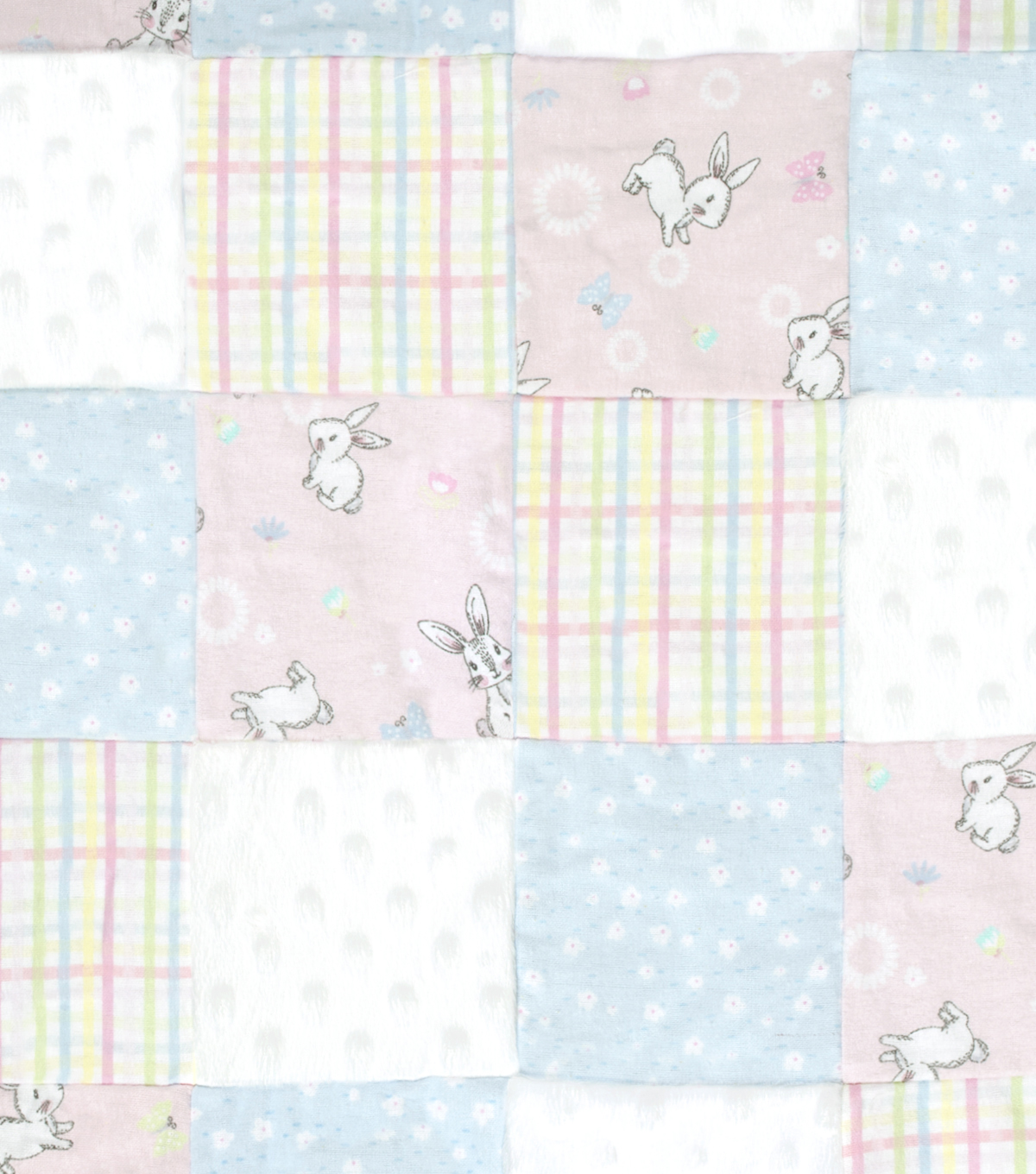 Nursery Quilt Patchwork Fabric Bunny