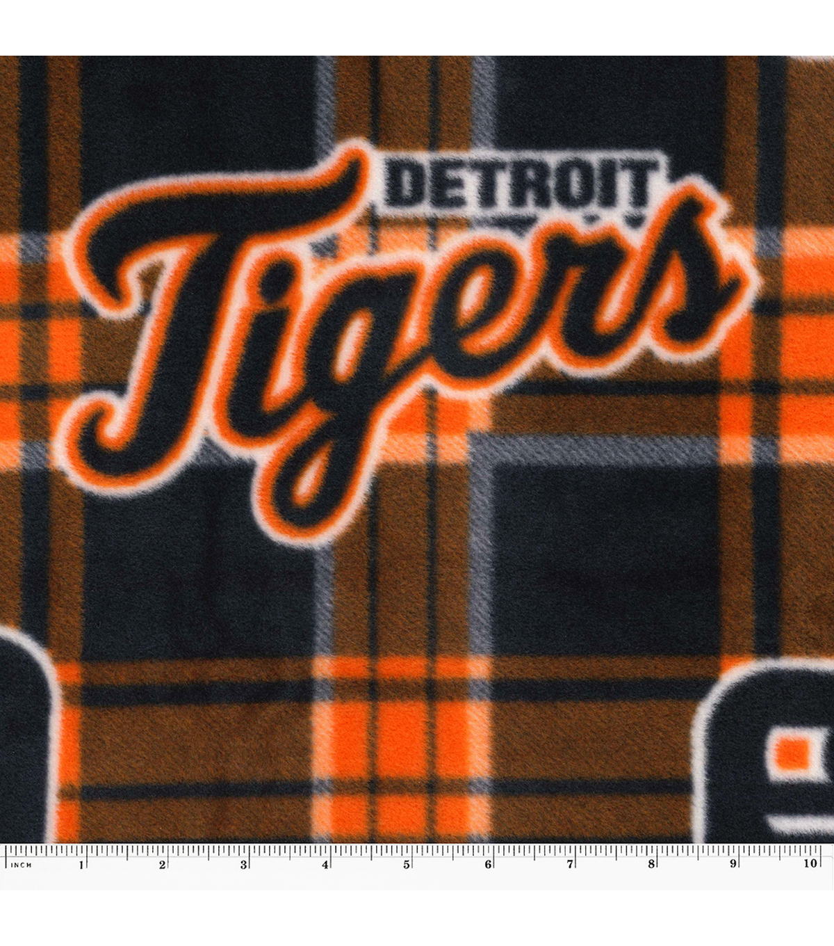 Detroit Tigers Fleece Fabric -Plaid