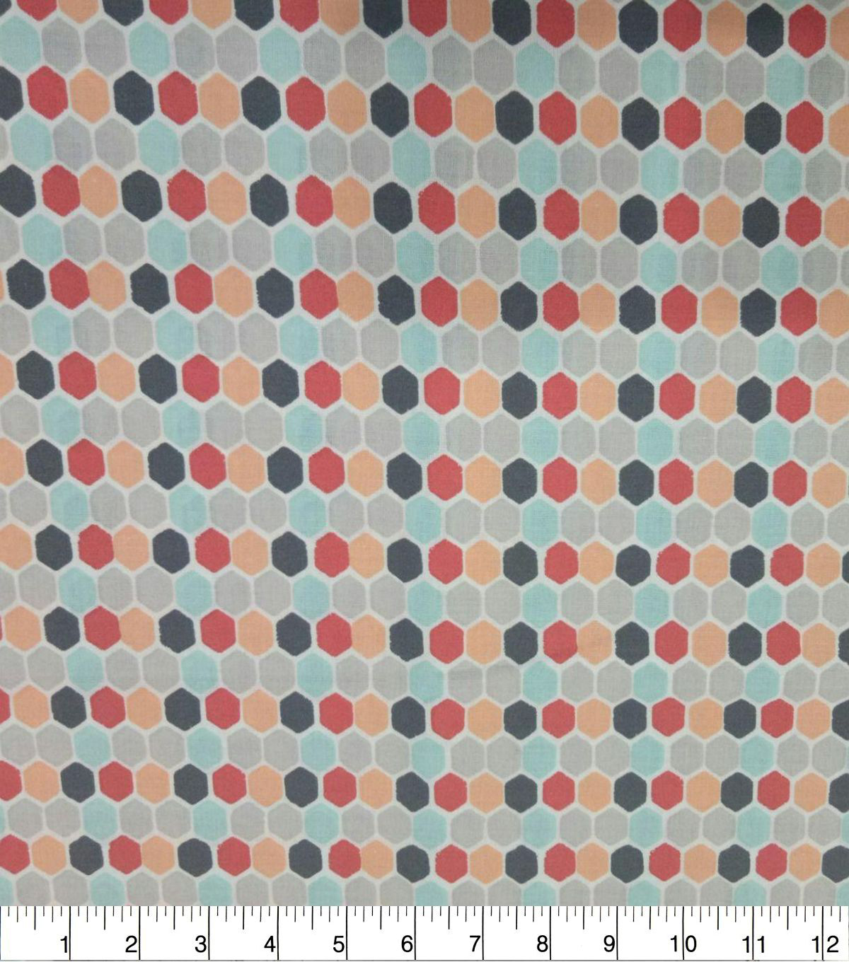 Quilter\u0027s Showcase Cotton Fabric-Honeycomb Coral Teal