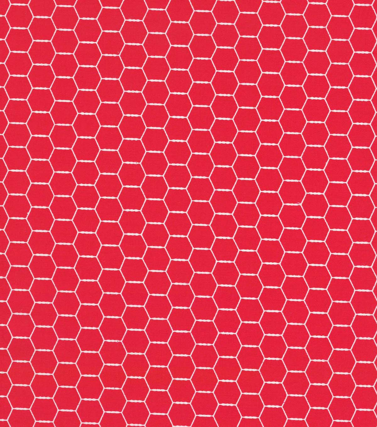 Quilter\u0027s Showcase Cotton Fabric 44\u0027\u0027-Red Hexagon Wire