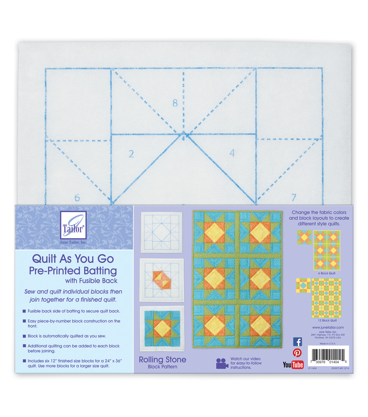Roll Stone-quilt As You Go Btng