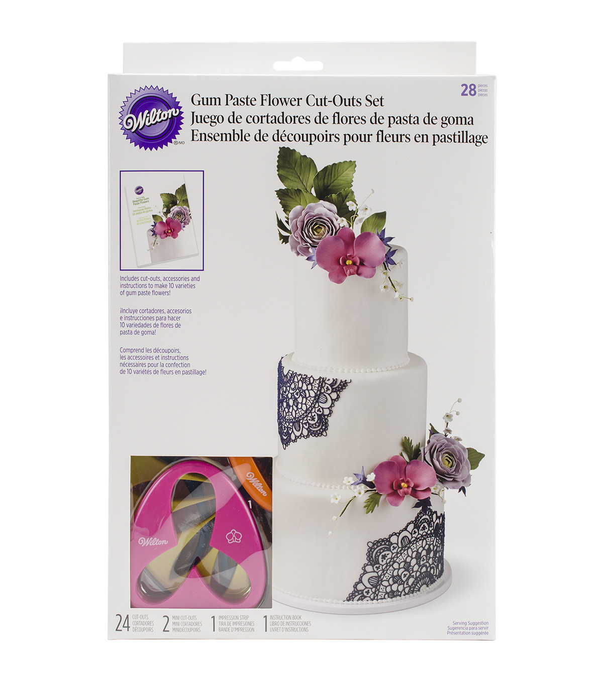 Wilton Gum Paste Flower Cutter Set 28pcs