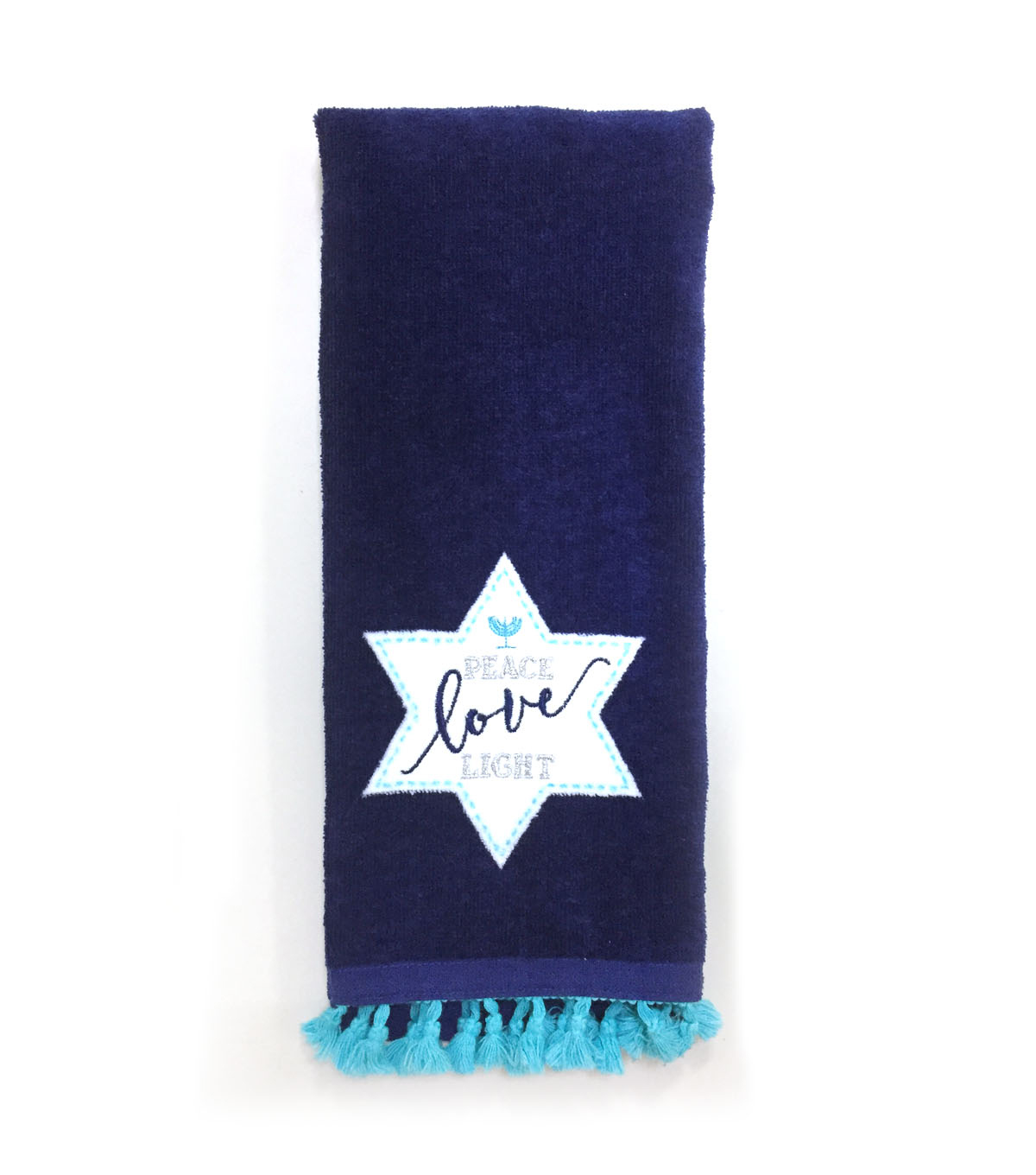 Hanukkah 16\u0027\u0027x28\u0027\u0027 Kitchen Towel-Peace Love Light