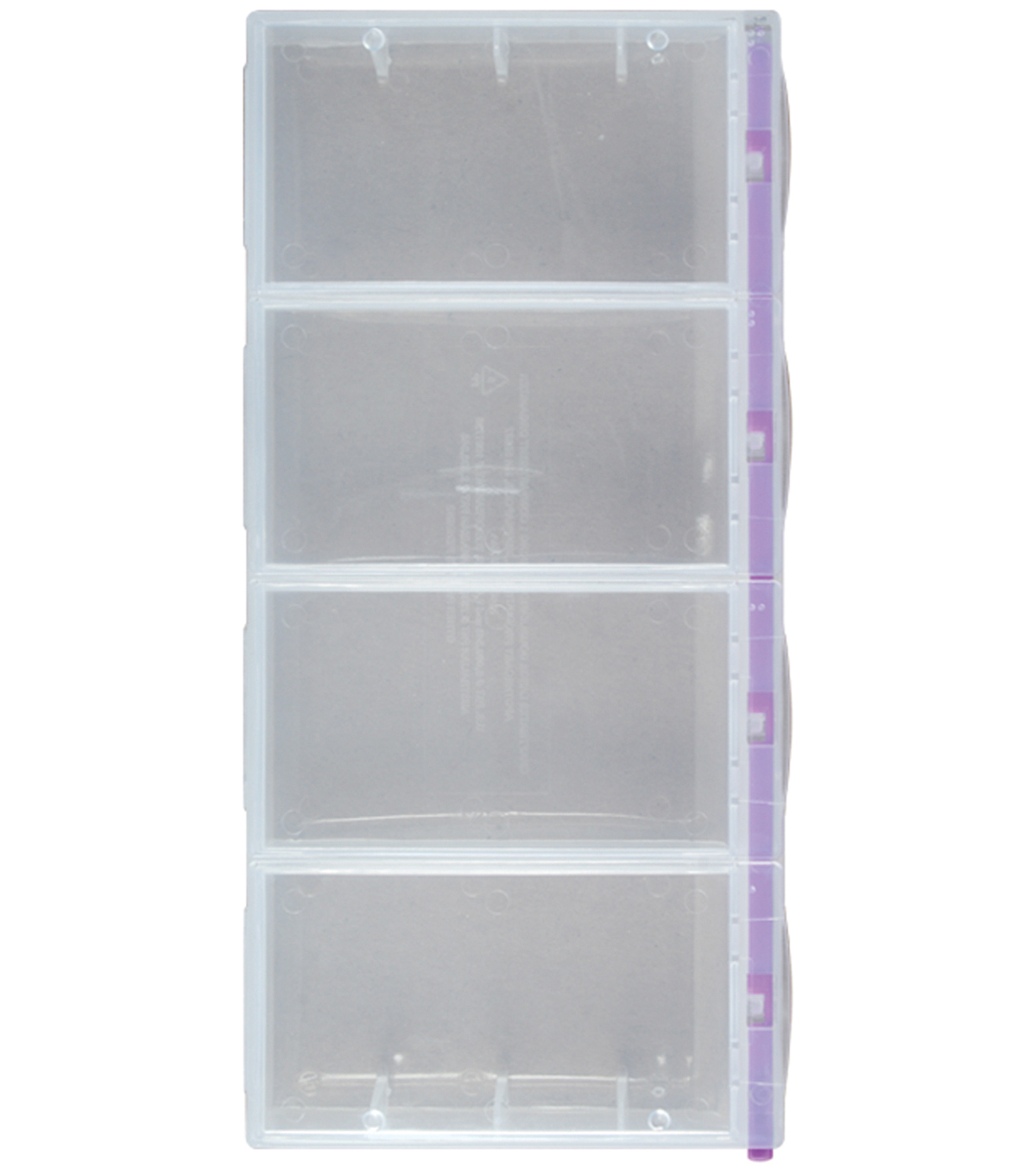 Craft Mates Lockables 2XL Organizer 4 Compartments-9\u0022X4.25\u0022X1.25\u0022