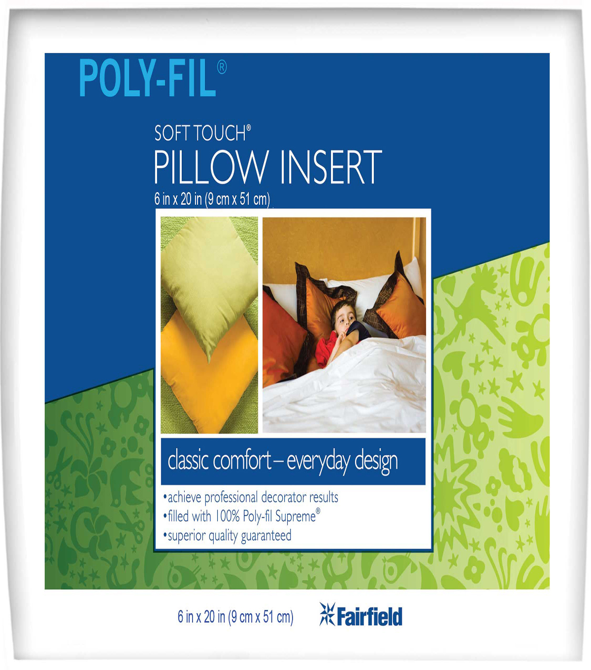 Soft Touch Neck Roll Pillow 6\u0022 x 20\u0022