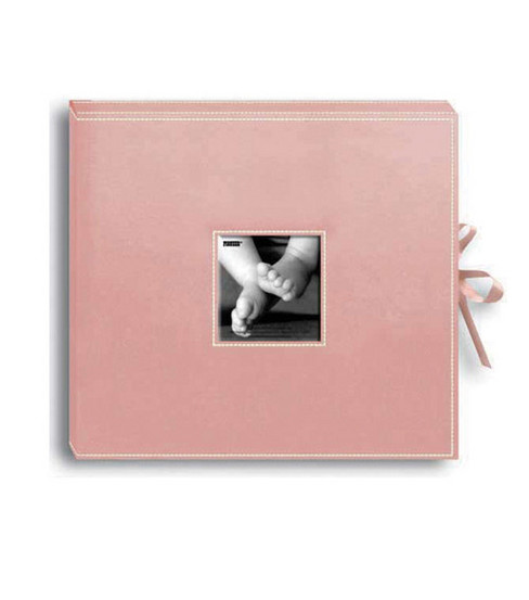 Pioneer Leatheretter D-Ring Album, Baby Pink