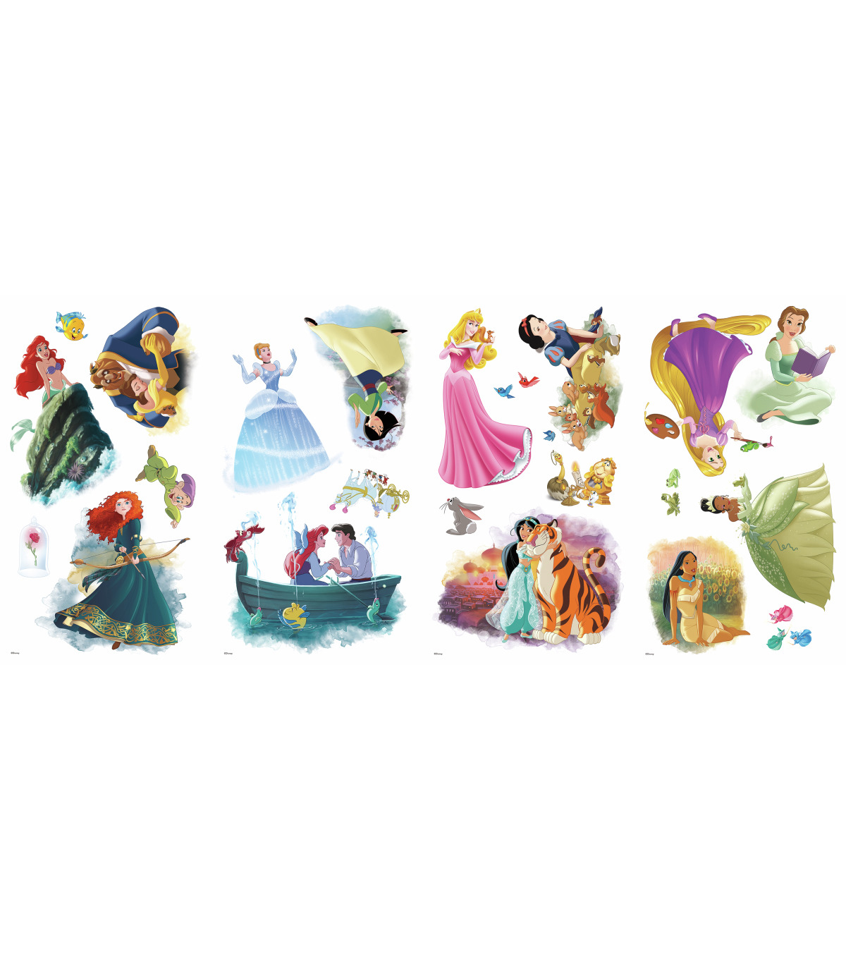 York Wallcoverings Wall Decals-Disney Princess Dream Big