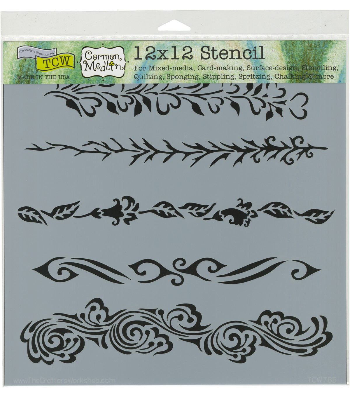 The Crafter\u0027s Workshop Carmen Medlin 12\u0027\u0027x12\u0027\u0027 Stencil-Ornate Borders