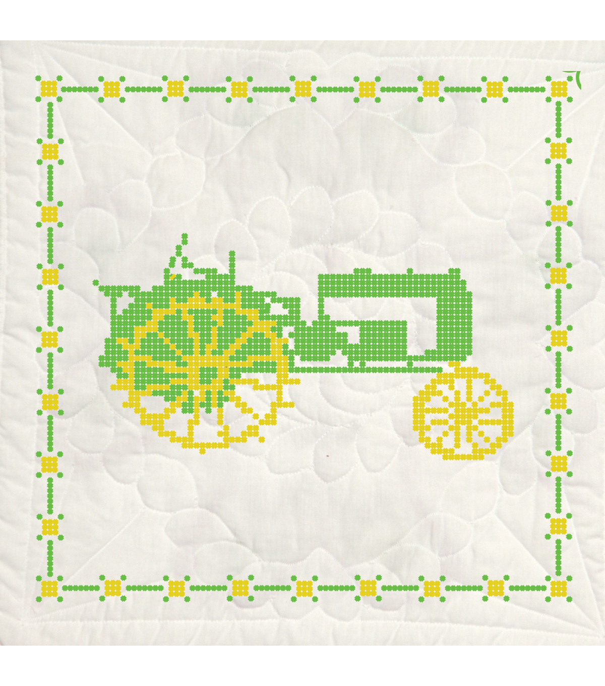 Fairway Stamped Quilt Blocks Tractor