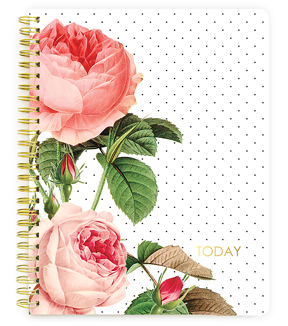 Webster\u0027s Pages The Good Life Undated Composition Spiral Notebook-Floral