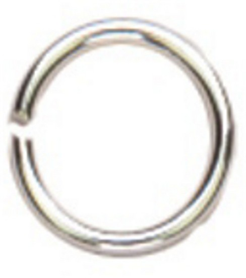 Cousin Silver Elegance 6mm Open Jump Ring-20PK/Sterling Silver
