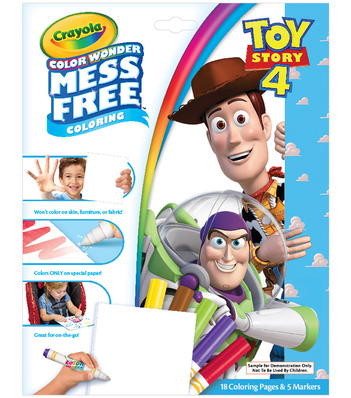 Crayola Color Wonder Mess Free Coloring Book with Markers-Toy Story 4