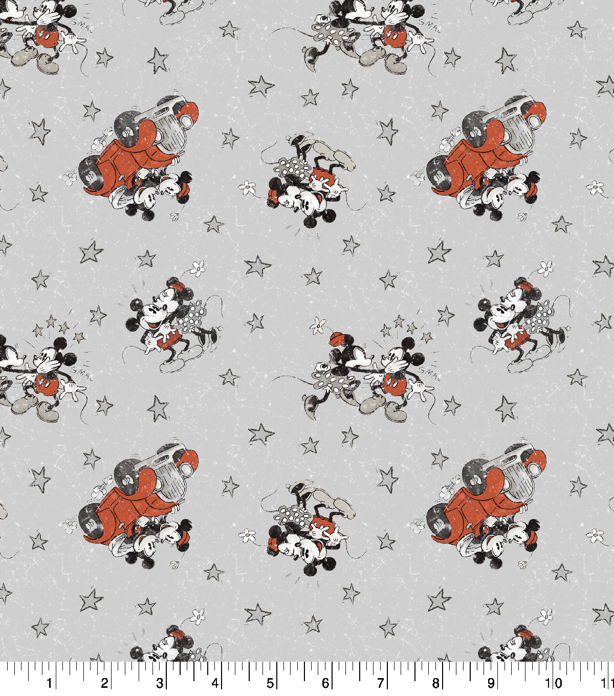 Disney Mickey & Minnie Cotton Fabric -Married Life