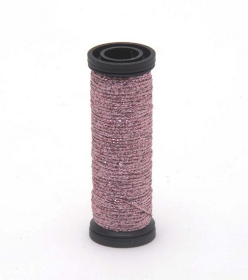 Kreinik Braid Metallic Thread Fine Size 8, Pink