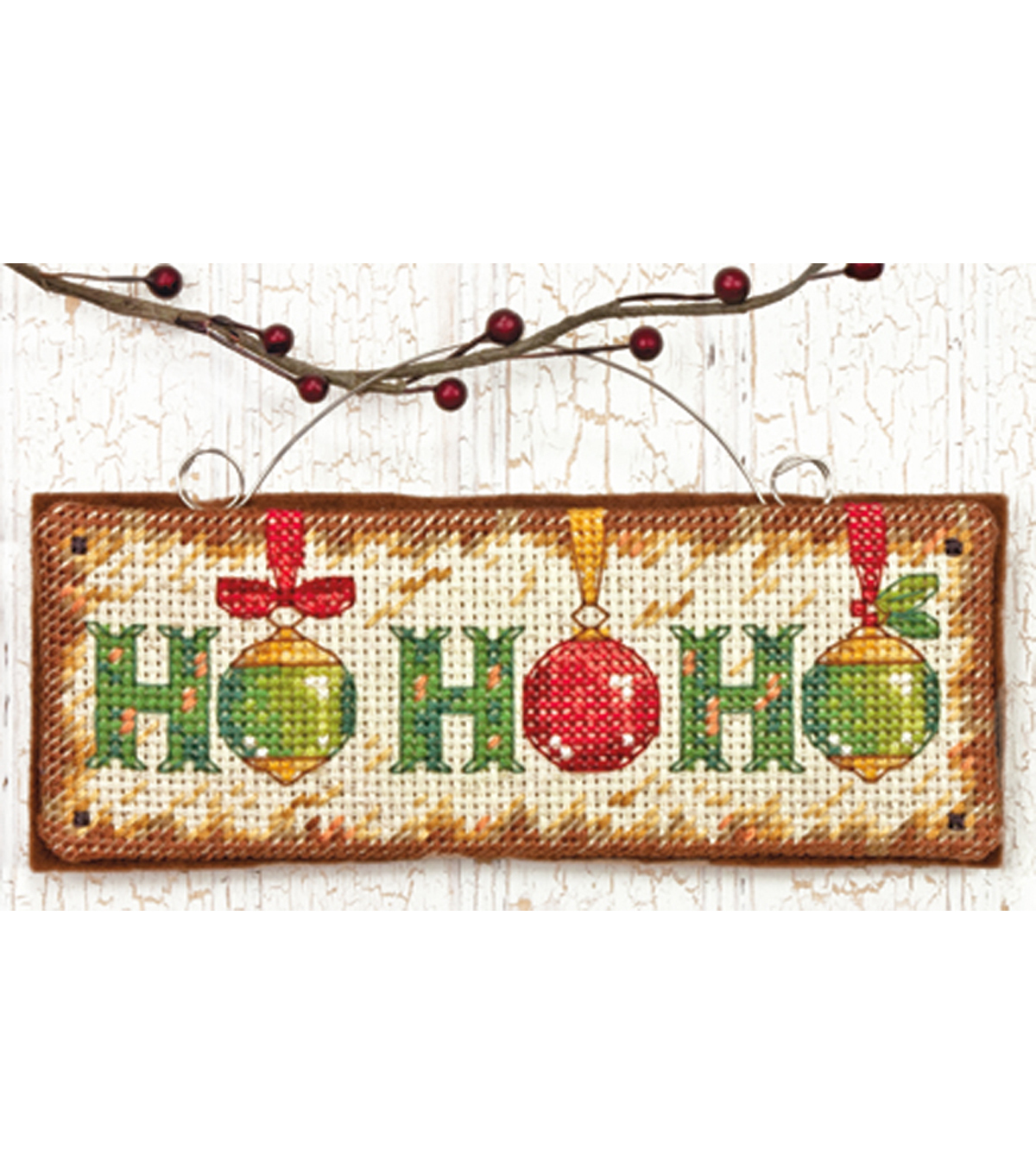 Dimensions Counted Cross Stitch Kit Ho Ho Ho Ornament