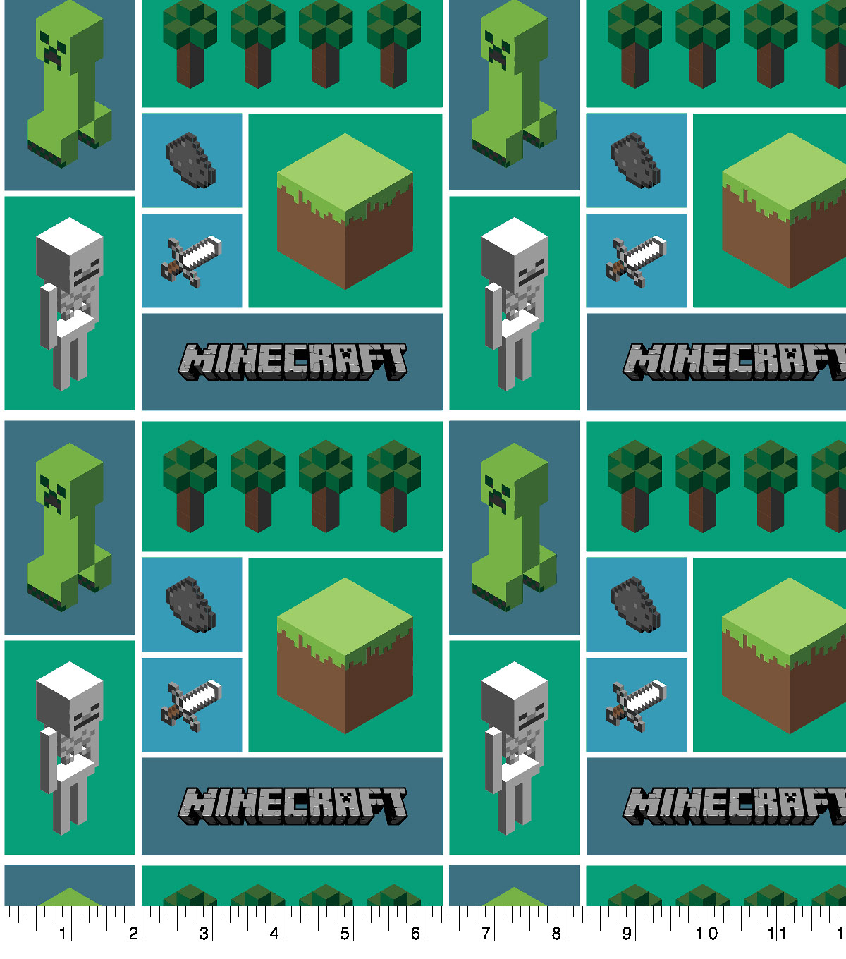 Minecraft Cotton Fabric -Mosaic
