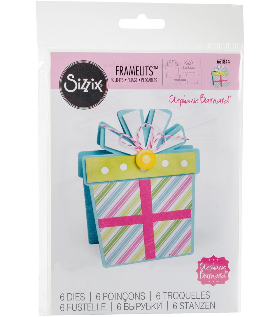 Sizzix Framelits Dies By Stephanie Barnard-Gift Fold-Its