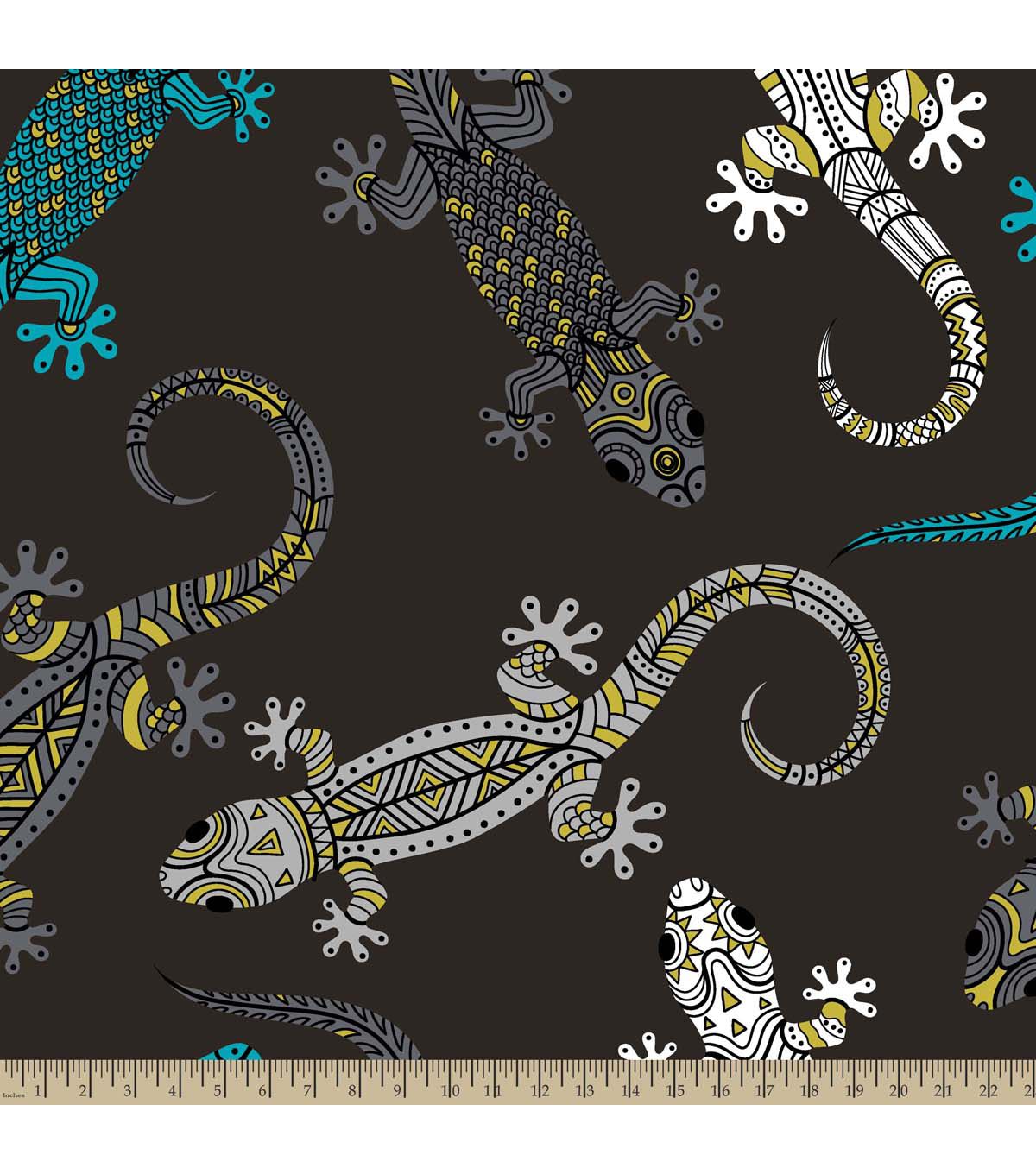 Anti-Pill Fleece Fabric 59\u0022-Lizards