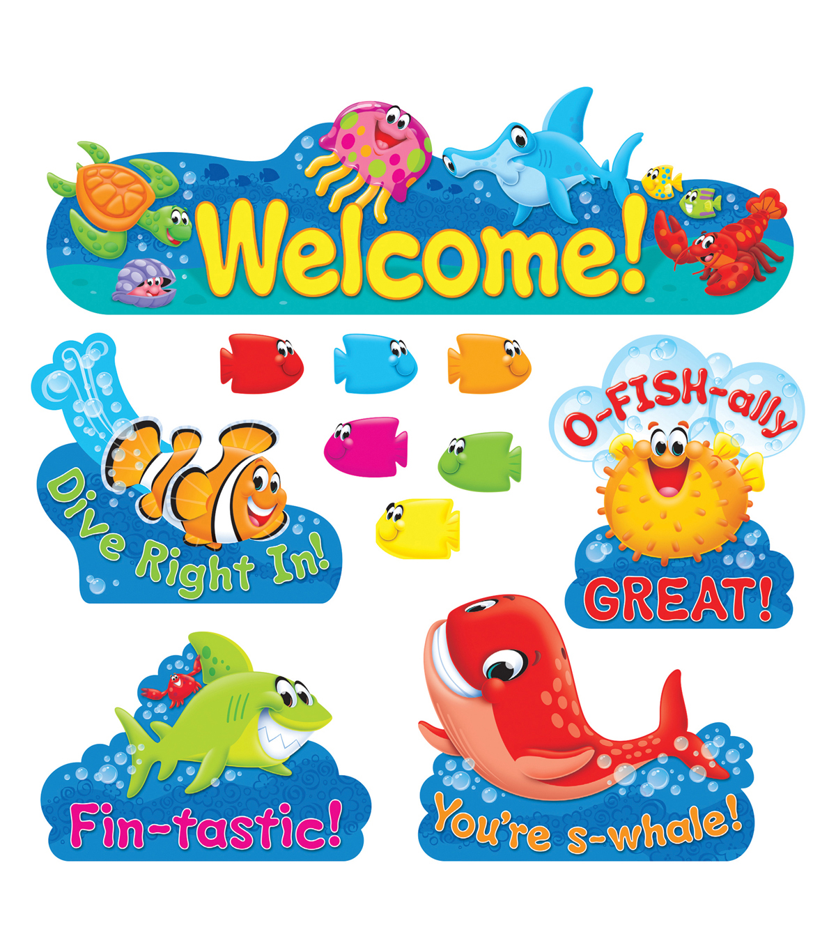 TREND enterprises, Inc. Sea Buddies Welcome Bulletin Board Set, 2 Sets