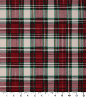 Christmas Cotton Fabric-Large Lodge Plaid