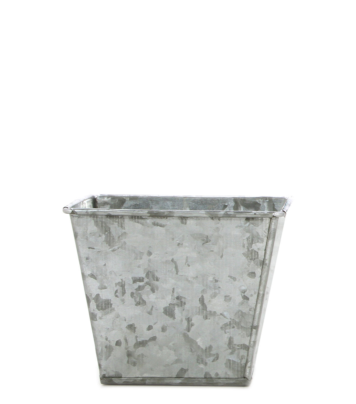 Galvanized Square Planter 5\u0027\u0027