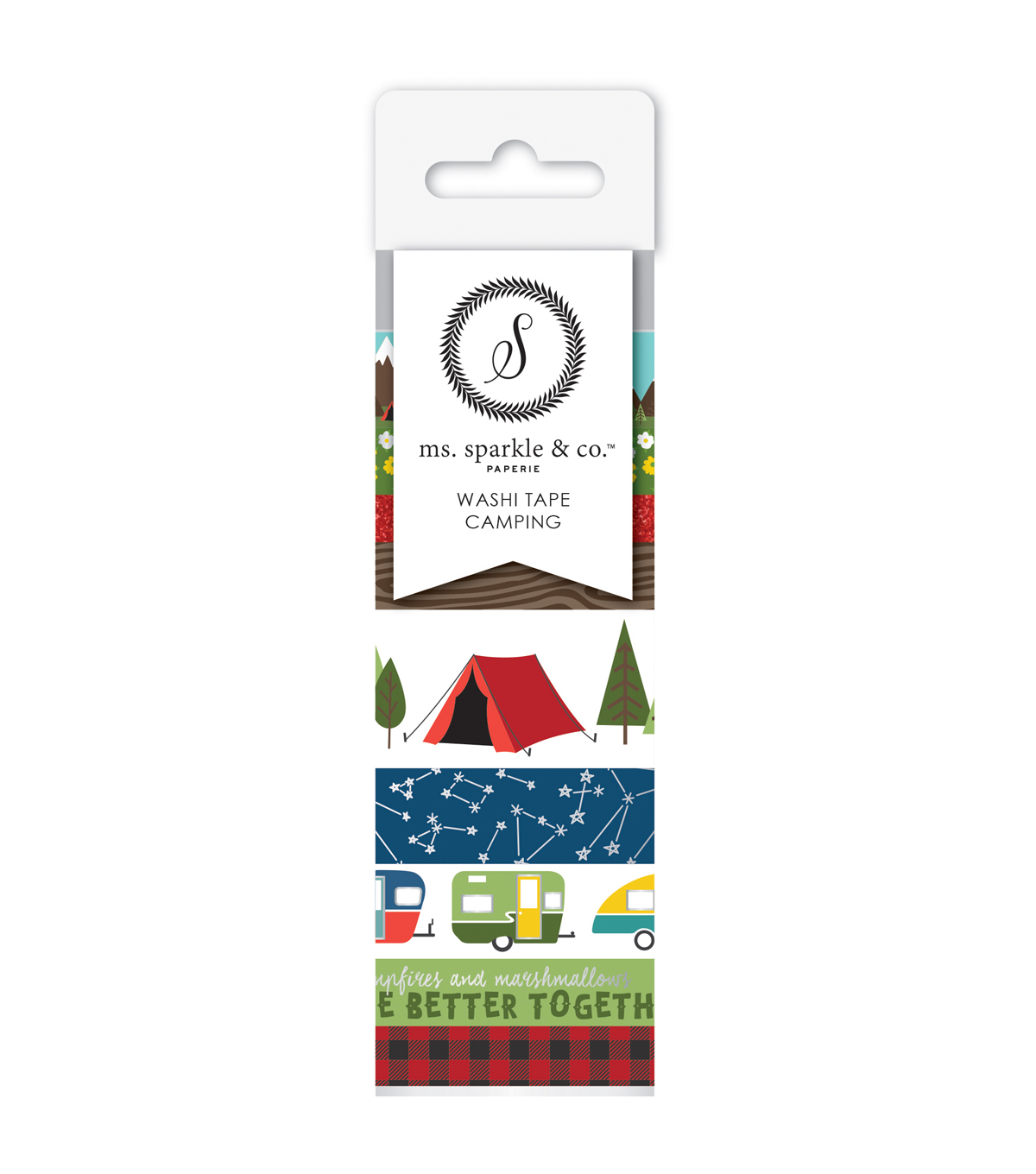Ms. Sparkle & Co. 9 pk Washi Tapes-Camping