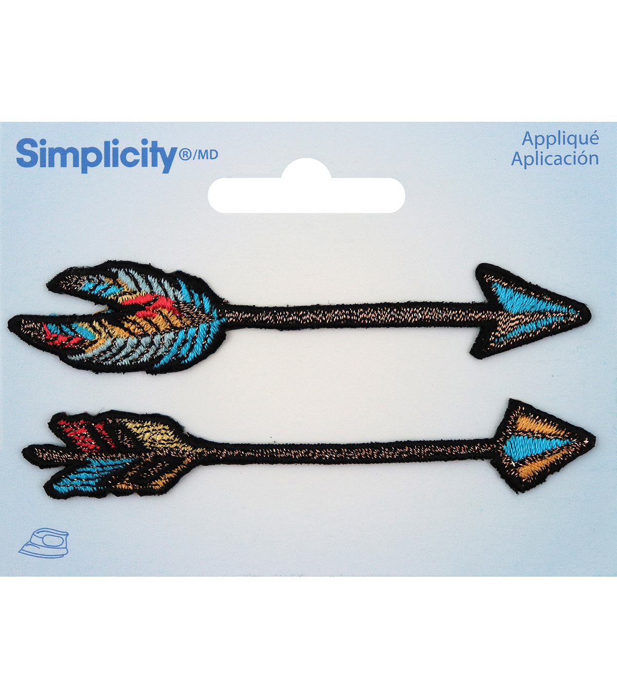 Simplicity 2 pk Arrow Iron-on Appliques-Multi