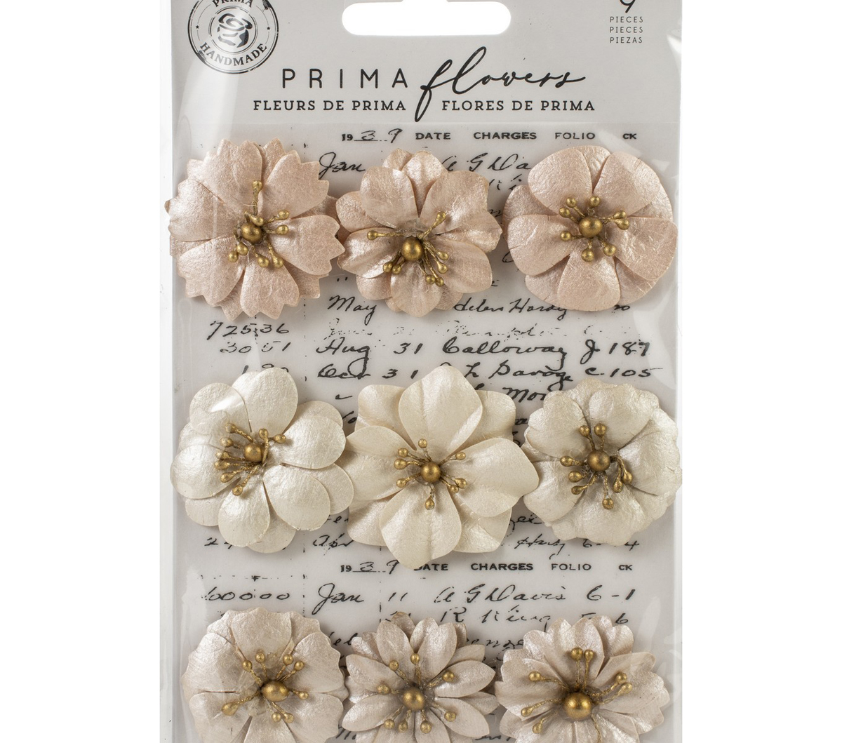 Prima Marketing Mulberry Paper Flowers -Barren/Pretty Pale