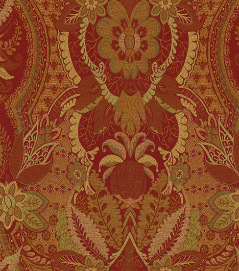 Home Decor 8\u0022x8\u0022 Fabric Swatch-Damask Cinnabar