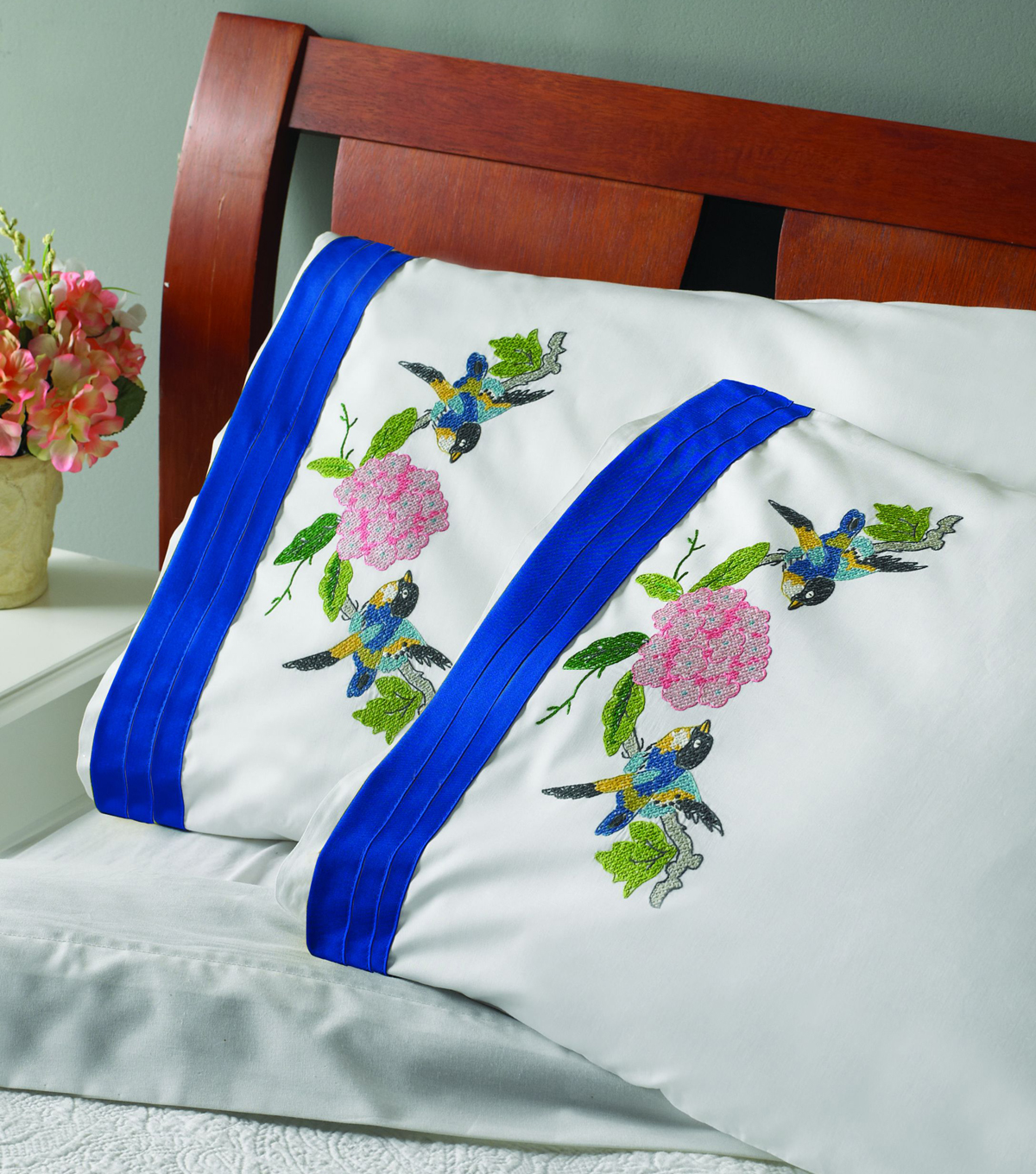 Bucilla Waverly Charmed Stamped Embroidery Pillowcase Joann