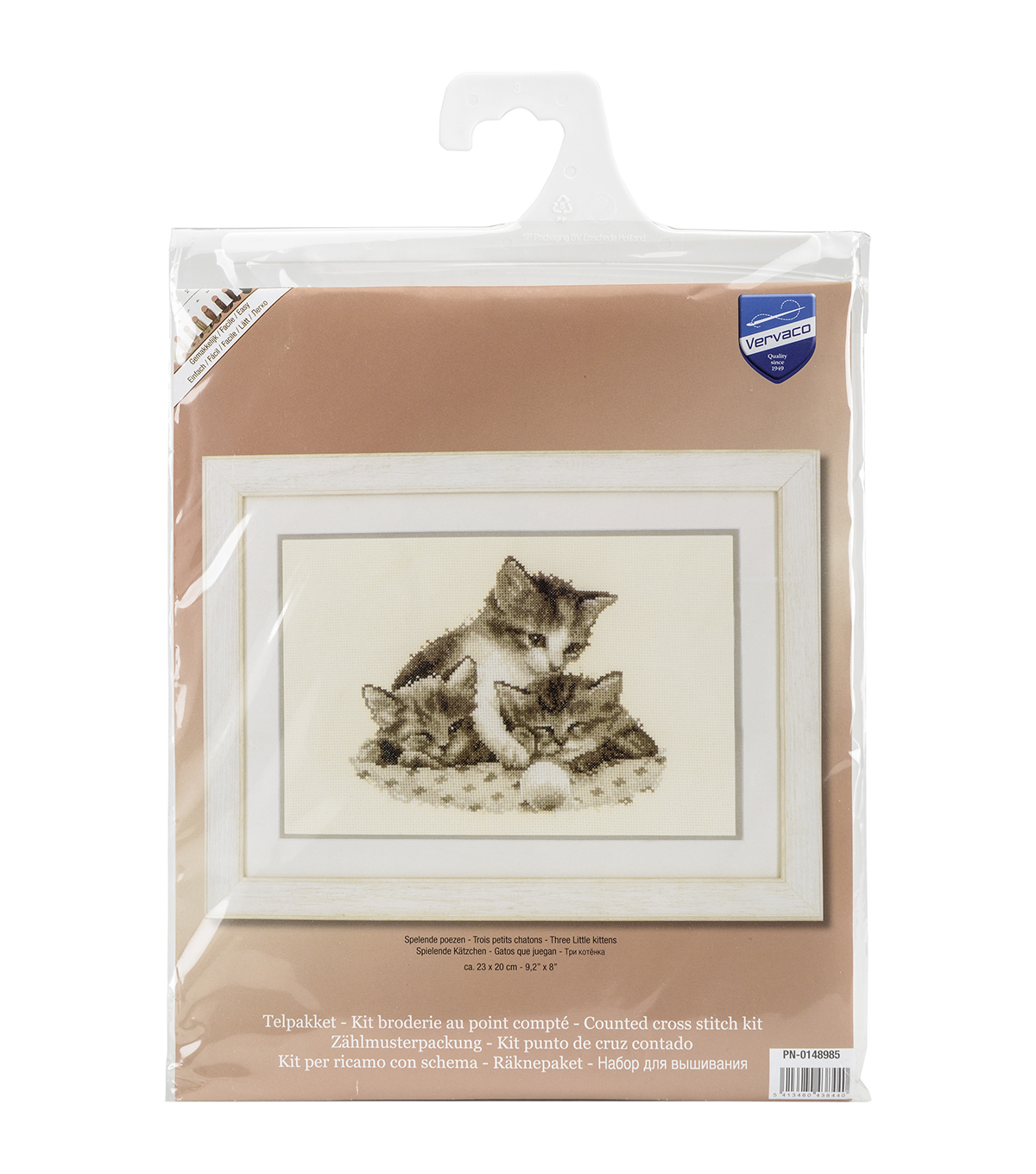 Vervaco Aida Counted Cross Stitch Kit-Three Little Kittens