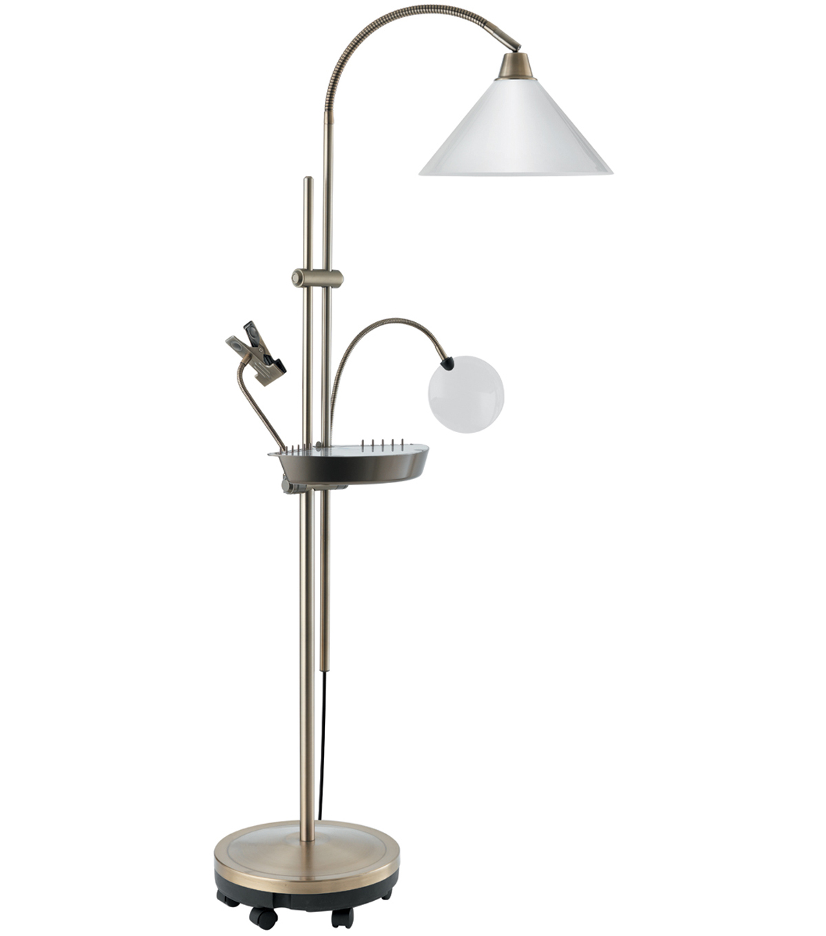 Daylight ultimate floorstanding lamp brass joann daylight ultimate floor lamp antique brass aloadofball Choice Image