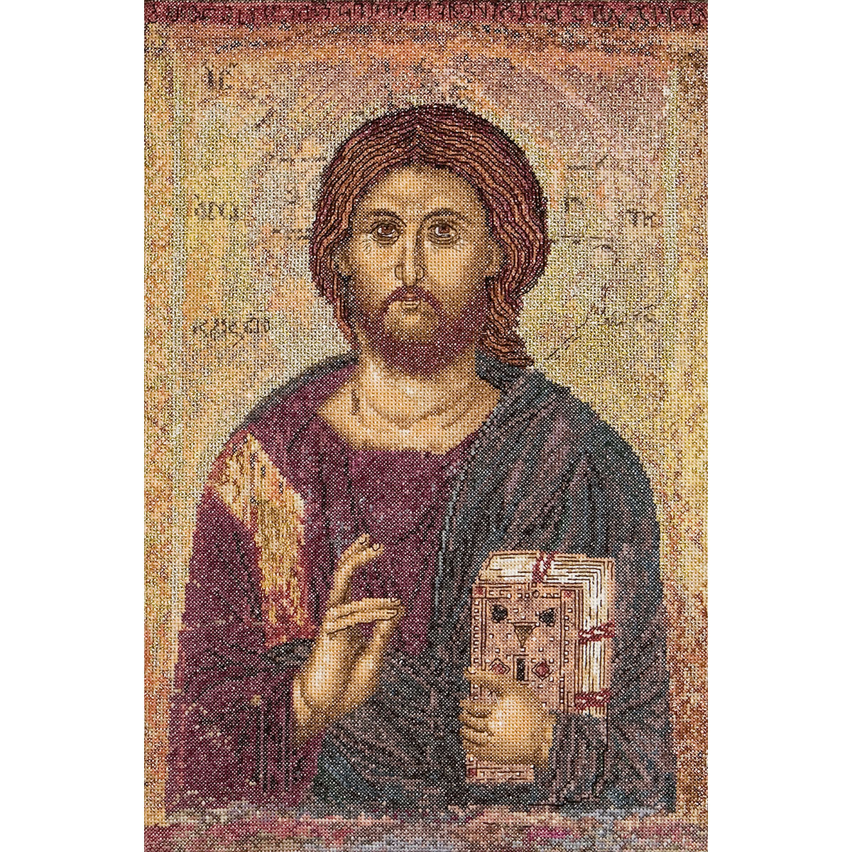 Thea Gouverneur counted-cross-stitch Kit Icon Christ Pantokrator On Aida