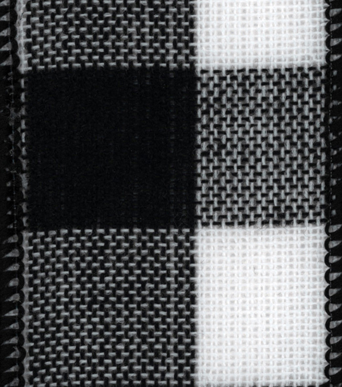 Offray Fabric Ribbon 2 1/4\u0022x9\u0027-Black & White Check