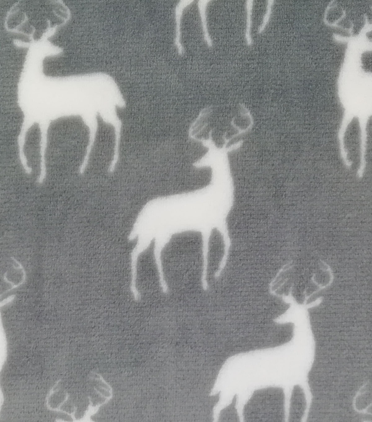 Sew Lush Fabric -Stags on Gray