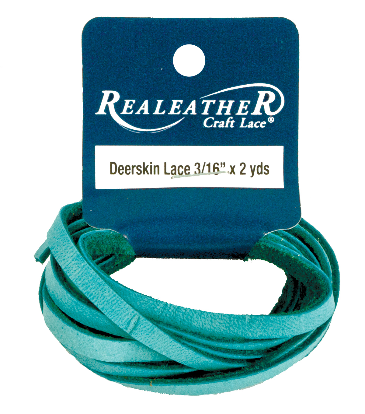Deerskin Lace, 3MM X 2 YDS, Turquoise, Turquoise